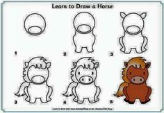 easy drawing animals draw zoo drawings animal horse uploaded