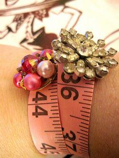 Pink Tape Measure Bracelets! 17 by Lisa Kettell, via Flickr