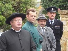 I absolutely love this photo ♡♡ On set of #FatherBrown series 4!
