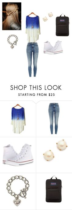 """""""alisons outfit"""" by shayna-friedrich-mackenzie ❤ liked on Polyvore featuring River Island, Converse, Kate Spade, Juicy Couture and JanSport"""