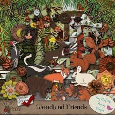 Woodland Friends (PU/S4H/S4O) [BCMD_WF] - $5.99 : Scraps N Pieces Store