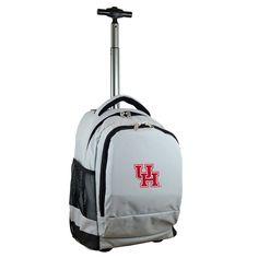 NCAA Houston Cougars Grey Premium Wheeled Backpack