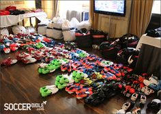 FA TwitPic England Boot Room Euro 2012- this is every soccer players' dream.
