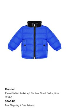 8a33776d858f Moncler Baby Boys Red Down Padded Roubaix Jacket