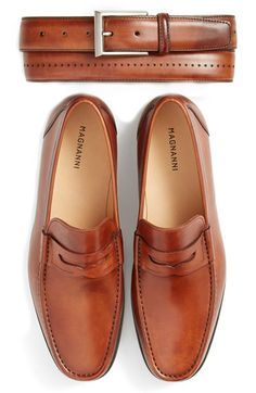 Magnanni 'Catalux' Belt - Colour: Cognac