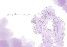 """xcawolix: """" たくさんの感謝をキミに… 「ありがとう」 """" So much pure emotion. :)"""