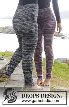 "So Cosy - Knitted DROPS tights with rib in ""Fabel"". Size: S - XXXL. - Free pattern by DROPS Design"