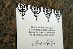 bling wedding   ... pocketfold invitation, which is very popular for wedding invitations