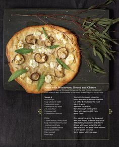 Pizza with mushroom, honey & chèvre. Just love the recipes right on the pin with the picture so fast so easy no time waisted with extra clicks trying to find it. Sweet Paul, Main Dish Salads, Main Dishes, Meat Recipes, Fun Recipes, Pizza Recipes, Recipies, Dinner Recipes, Healthy Recipes