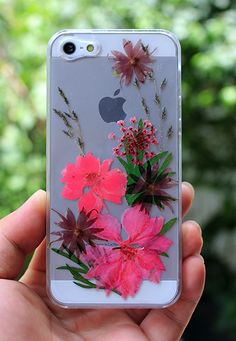 Real pressed flower phone case