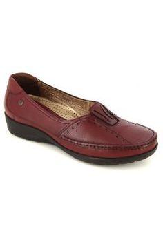 Bordo Deri Comfort Ayakkabı https://modasto.com/forelli/kadin-ayakkabi/br22873ct13 #modasto #giyim