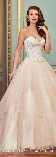 Blush Wedding Dress by David Tutera for Mon Cheri