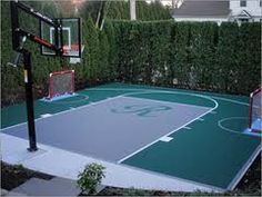 Basketball court basketball and iowa state on pinterest for Sport court size