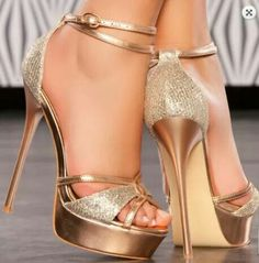 For All Your High Heels Fashion Ideas Gold Heels, Lace Up Heels, Stiletto Heels, Shoe Boots, Shoes Heels, Heels Outfits, Dress Shoes, Beautiful High Heels, Prom Heels