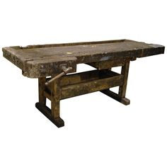 Oakwood Carpenters Workbench Can be used as decorative object or side table. Antique Tools, Cabinet Makers, Woodworking Bench, Wooden Tables, Modern Industrial, Picnic Table, Decorative Objects, Table Furniture, Carpenter