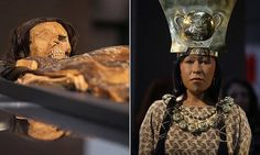 The Lady of Cao is a female Moche mummy found in El Brujo, Peru, in 2005. Archaeologists from Peru's El Brujo Museum were able to reconstruct her face with a laser scanner.