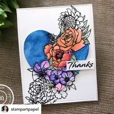 Martha Lucia start the week with this tutorial using her favorite flowers! Posted @withregram • @stampartpapel Hi friends! I am up with this card featuring the spotlight technique. I used AquaBlend pencils from @spectrumnoir and one of the images of the stamp set Martha's Flowers from Joy Clair Designs @joyclairstamps. All the details are in my blog. • • #clearstamps #joyclairstamps #joyclairdesigns #crafts #scrap #papercrafts #papercrafting #papercrafter #handmade #handmadecard… Card Maker, Clear Stamps, Spotlight, About Me Blog, Scrap, Greeting Cards, Thankful, Paper Crafts, Joy