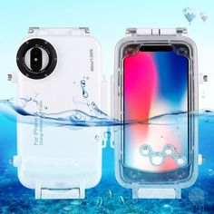 Buy HAWELL iPhone XR Diving Case, Professional Surfing Swimming Snorkeling Photo Video Waterproof Protective Case Underwater Housing for iPhone with Lanyard (iPhone XR White) Cheap Phone Cases, Mobile Phone Cases, Iphone Cases, Iphone 8, Apple Iphone, Underwater House, Underwater Photography, Underwater Photos