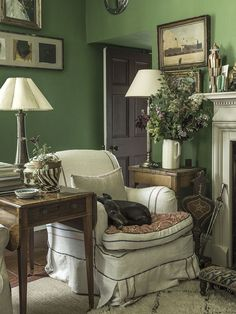 01-At Home With | Jane Ormsby Gore-This Is Glamorous...GREEN!
