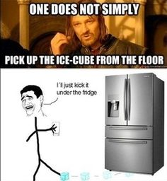one does not simply pick up the ice cube from the floor