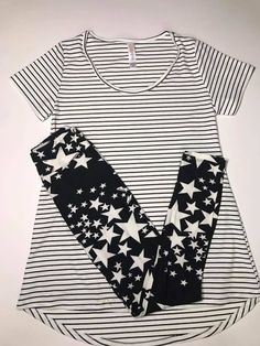 A simple and casual Lularoe outfit. Join our exclusive Lularoe group to shop for more outfits like this.