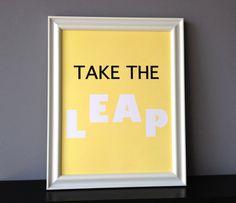 take the leap, $20.00
