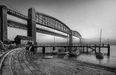 Brunel Bridge Black White Photos, Black And White, Isambard Kingdom Brunel, Devon Uk, Portsmouth, Royal Albert, Sydney Harbour Bridge, Fencing, Plymouth