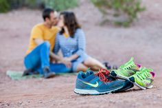 Papago Park Engagement Photography for Runners