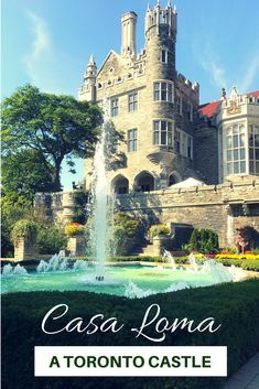 This Toronto Castle Casa Loma is just a short distance from downtown Toronto. Here you will find antique furniture, beautiful gardens, and city views.