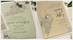 blue vineyard wedding invitations - Google Search