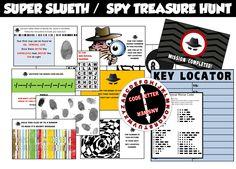 Secret Agent / Detective / Spy Treasure by funtasticprintables, $12.99