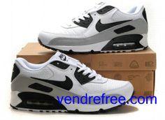 quality design b53ba 19cb9 Vendre Pas Cher Homme Chaussures Nike Air Max 90 (couleur blanc,noir,gris)  en ligne en France.