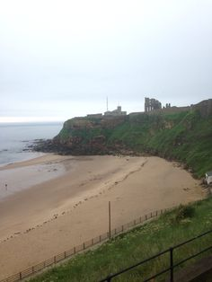 Castle and The beach King Edwards bay Tynemouth long sands beach 8 am 14 th June 2014 www.tynemouthwebcam.com