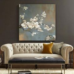 "Happiness radiates like the fragrance of a flower and draws all the good things towards you. Get this ""Cherry Blossom Tree"" canvas wall art now and attract good vibes only!"