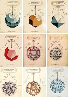 Illustrations of Mathematics! De Divina Proportione - a book on mathematics written by Luca Pacioli and illustrated by Leonardo da Vinci, composed around 1498 in Milan and first printed in 1509 Luca Pacioli, Geometric Designs, Geometric Shapes, Leonardo Da Vinci Zeichnungen, Divine Proportion, Sacred Geometry Symbols, How To Draw Sacred Geometry, Platonic Solid, Math Art
