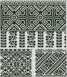 Монохромна вишивка: 80 схем | Ідеї декору