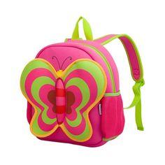 NOHOO Butterfly Waterproof Children School Bags Cartoon Animals School Backpacks For Teenage Girls Large Capacity Baby Backpack Toddler Bag, Toddler School, School Bags For Kids, Kids Bags, Pre School, Girls School, Toddler Toys, Baby Backpack, Toddler Backpack