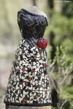 'Miss Valencia' 22 H Tile #Mosaic Dress #Sculpture by Shelly Hamill, Artist http://www.shellyhamill.com/ Available from Esperanza, An Auberge Resort Capricho Gallery  #Cabo San Lucas, #Mexico  52-624-145-6454 email: lourdes.sandez@aubergeresorts.com $4000.00 #art