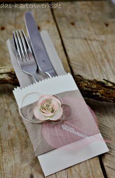 bestecktasche silber wei lila taufe kommunion tischdeko hochzeit diy kuchengabel. Black Bedroom Furniture Sets. Home Design Ideas