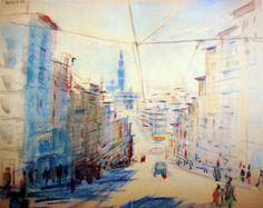 Clérigos   © Nadir Afonso. Pablo Picasso, Nadir Afonso, Portuguese, Painters, Portugal, Sci Fi, Archive, Pastel, Artists