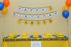 Camden's Under Construction Birthday Party   CatchMyParty.com