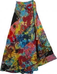 Mojo Wrap Around Long Skirt - Littlebazaar.artfire.com