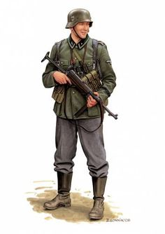 Waffen SS - Balkans pin by Paolo Marzioli Ww2 Uniforms, German Uniforms, German Soldiers Ww2, German Army, Military Art, Military History, Military Drawings, Germany Ww2, Weimar