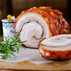 Rolled Roasted Pork Belly