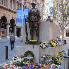 100 year commemorations of the start of WW1. Many tributes placed in Martin Place on the Sydney Cenotaph. LEST WE FORGET. #sydneycenotaph #sydneylove #letsweforget #martinplace #sydneybuilder #localbuilder #australia #lightsgoingout #www.buildingworksaust.com.au