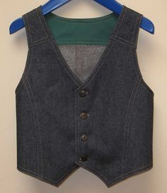 Flip Vest --- Boy's Vest Pattern by Felicity Patterns --- Boy's PDF Sewing Pattern and Tutorial.