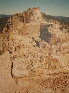 The Crazy Horse Memorial will be the largest sculpture in the world when complete. #BlackHills #SouthDakota
