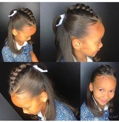 Kids hairstyles girls hairstyle for long hair hair tips hair ideas Lil Girl Hairstyles, Black Kids Hairstyles, Natural Hairstyles For Kids, Short Hairstyles, Childrens Hairstyles, American Hairstyles, Short Haircuts, Birthday Hairstyles, Black Hairstyle