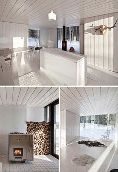 This winter home in Virrat, Finland, is designed by Helsinki studio Avanto Architects.
