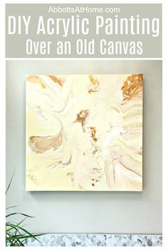 I love a good upcycle guys! Here's how to paint over an old canvas with DIY Acrylic Pour Art. Reuse or repurpose an old canvas with your own DIY Wall Art Project. Painting Moving Decor and Organization Diy Canvas Art, Diy Wall Art, Diy Art, Craft Art, Canvas Crafts, Canvas Ideas, Relaxing Art, Dining Room Wall Art, Old Paintings